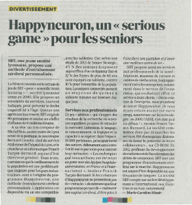 Article Les Echos HAPPYneuron -  28-01-15
